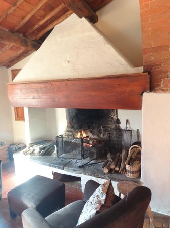 Tuscan Wine Tours by Grape Tours: the best fireplace I've ever sat next to