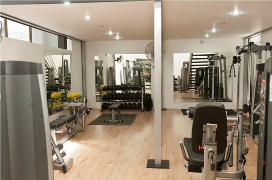 The Haven Hotel and Spa: Lower gym floor
