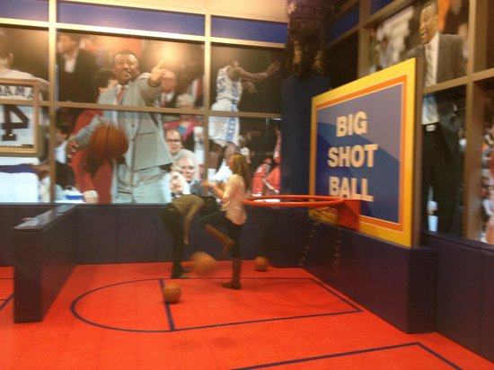 The College Basketball Experience: The Big Ball is easy for anyone to make a basket!