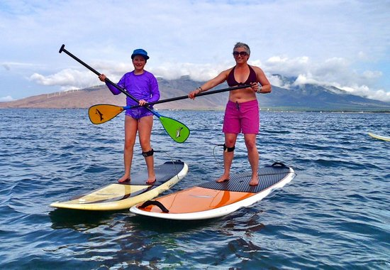 Paia, Hawái: Mama and daughter SUP lesson with Maria Souza