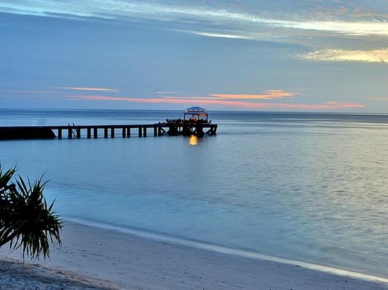 Wakatobi Dive Resort: Sunset at the Jetty Bar at Wakatobi