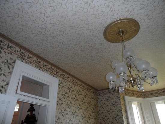 Schenck Mansion Bed & Breakfast Inn: The ceilings are gorgeous!