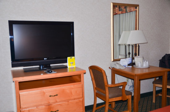 Holiday Inn Express Hotel & Suites Moab: tv and small table