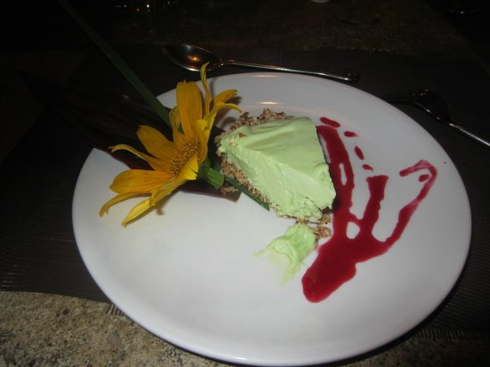 Exotica : Lime pie with a coconut crust.  mmmm