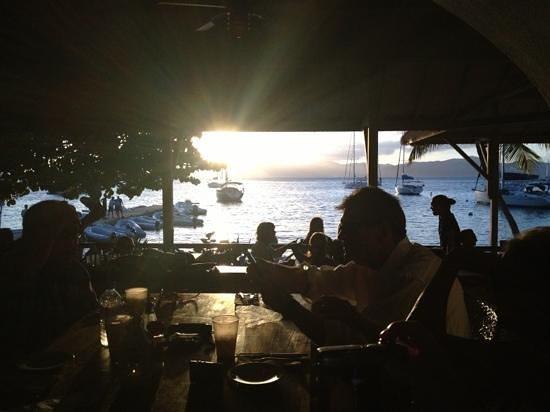 Cooper Island Beach Club: dinner