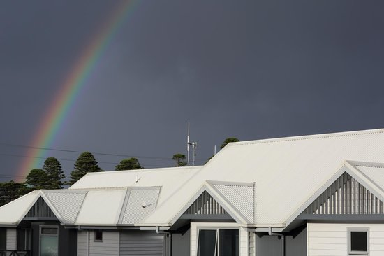The Victoria Apartments: morning rainbow surprise