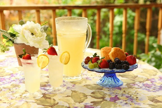 Central Park Bed and Breakfast: Lemonade on the veranda