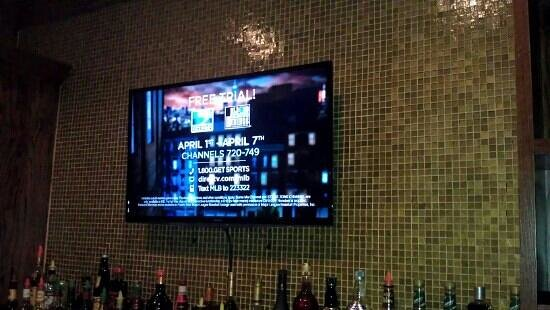 Courtney's Continental Cuisine: TV at the bar.