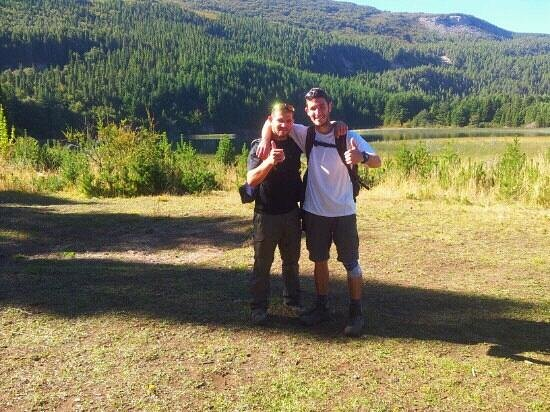 Coyhaique National Reserve: Me and a friend at the first lagun