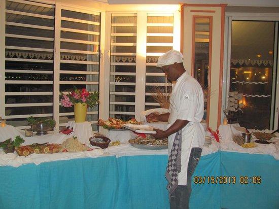 Le Beach Hôtel: le souper de langouste