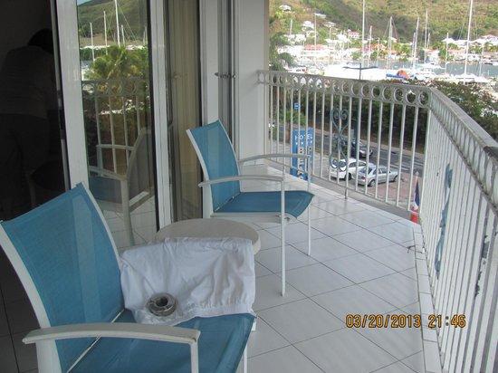 Le Beach Hôtel: notre terrasse
