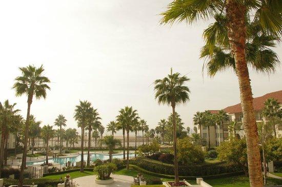 Hyatt Regency Huntington Beach Resort & Spa: 雲っていたけれど晴れていたら素敵だろうな〜と♡