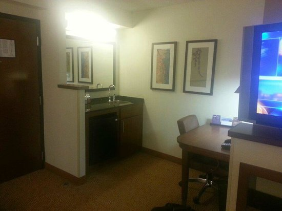 Hyatt Place Charlotte Airport/Tyvola Road: Sink, desk, front door