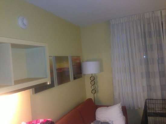 TownePlace Suites Columbia Southeast/Fort Jackson: sleep sofa and desk area