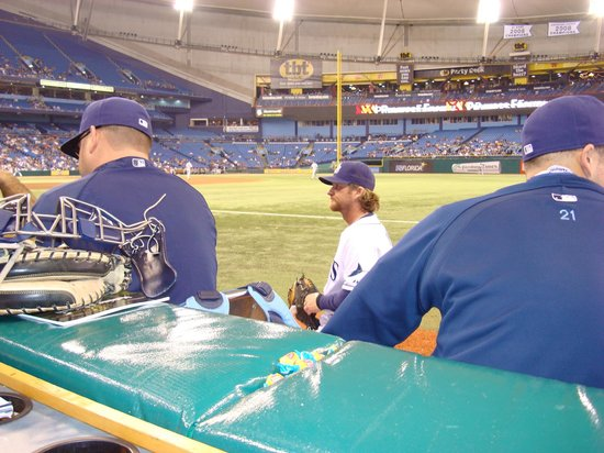 Tropicana Field: This is how close to sit to the relief pitchers