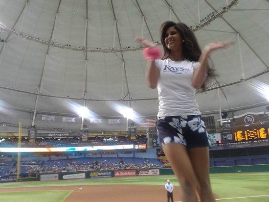 Tropicana Field: Our cheerleaders are young models...