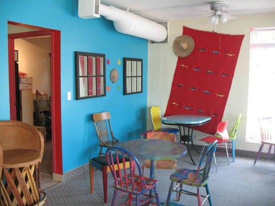 The Taco Bar : indoor seating