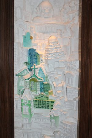 Hyatt Regency Chennai: One of the smaller artworks - this was right by the lift on the floor I was staying at