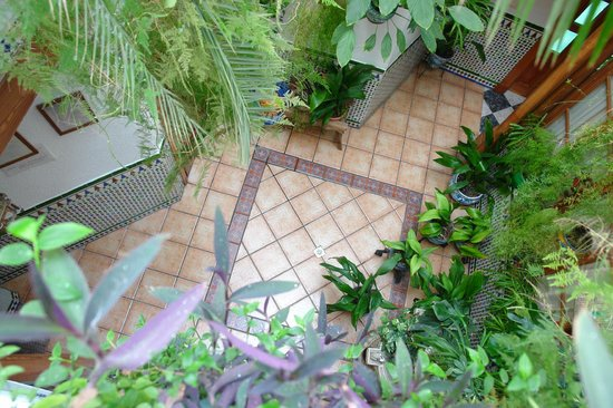 Pension Zurita: Patio, vista superior