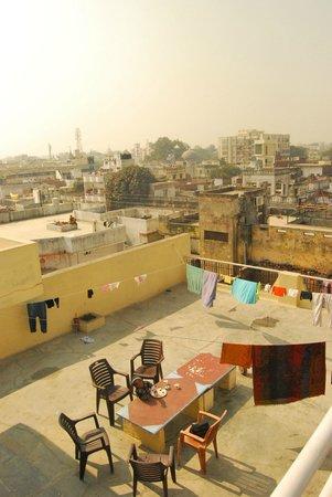Khushi Paying Guest House : Vue de la terrasse