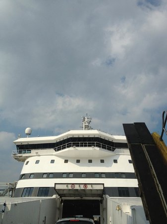 One of the DFDS ferries