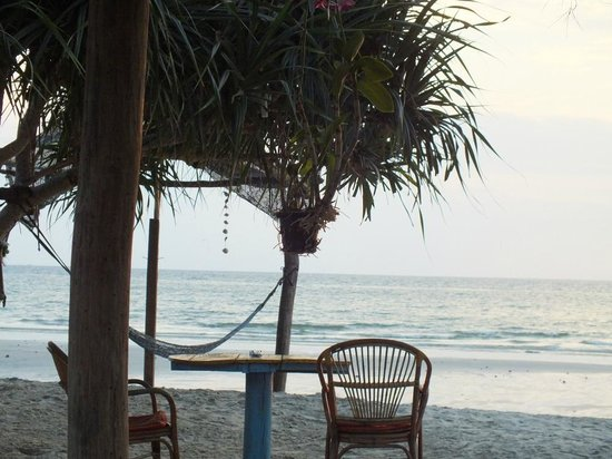 Castaways Beach Bar & Bungalows: takin' in the waves