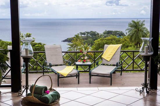 The Villas at Stonehaven: View from Villa Poolside loungers