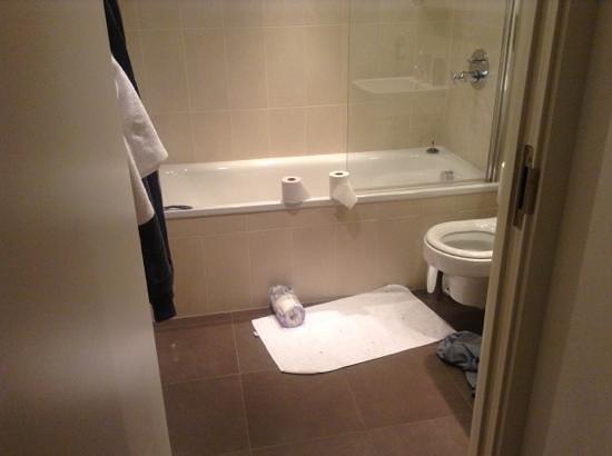 The Heart Apartments - MediaCityUK: bathroom tiny