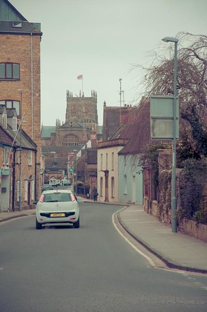 The Eastbury Hotel : This is the view from the front of the hotel down to Sherborne. Just a few minutes walk away.