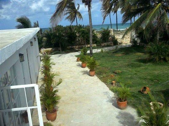 Guanabo, Kuba: Innenhof - Terrase