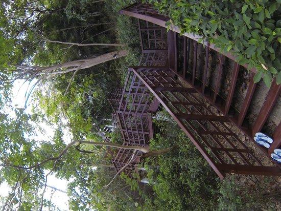 โรงแรมซีโวล่า: die Treppen zur Pool Villa