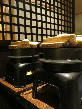 Inatori Tokai Hotel Yu-en: ごはんはその場で炊き上げる。