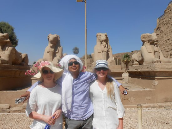 MTS Egypt Tours: my daughters with Ahmed our Luxor guide