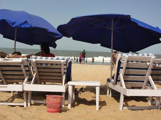 Estrela Do Mar Beach Resort: free sunbeds on the beach..