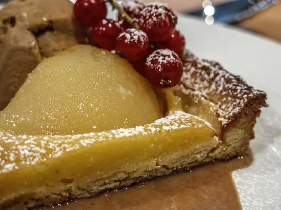 The Exchange : Poached Pear Tart