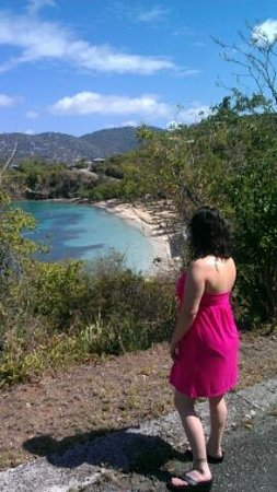 Virgin Islands Campground: a backdrop worthy of my beautiful Angel