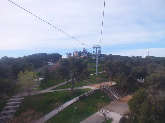 montjuic cable car picture of parc de montjuic barcelona tripadvisor. Black Bedroom Furniture Sets. Home Design Ideas