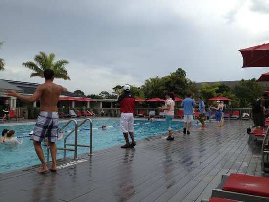 Club Med Sandpiper Bay: the rain go away dance