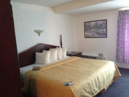 Quality Inn & Suites Albany Airport : King bed