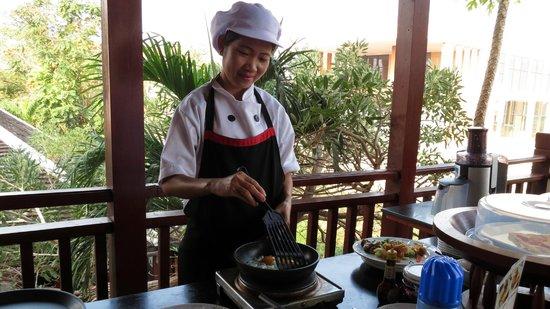 Green Park Boutique Hotel: Frühstück, Zubereitung von Eiergerichten