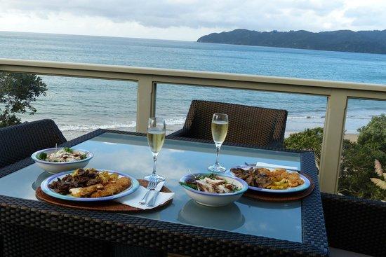 Beach Lodge: Terrasse unserer Wohnung
