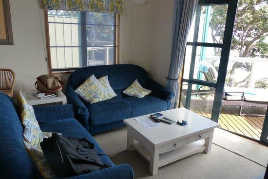 Beach Lodge: Wohnzimmer