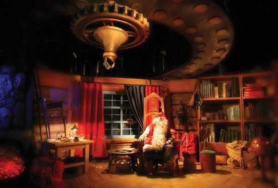 Santa Claus in his Office at the Arctic Circle, Rovaniemi, Finland