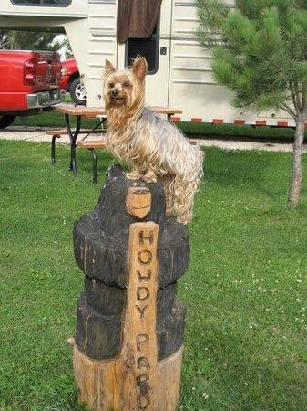 Broken Arrow  Campground: Max the greeter