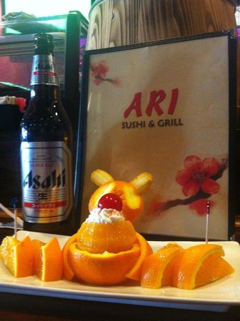 Ari Sushi: Fresh navels for desert