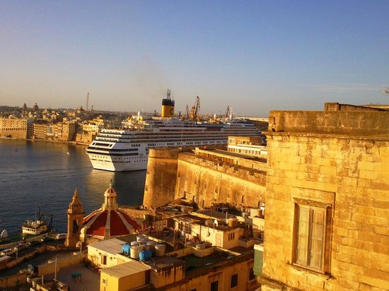 British Hotel: Cruise ships go by a couple of times a day...