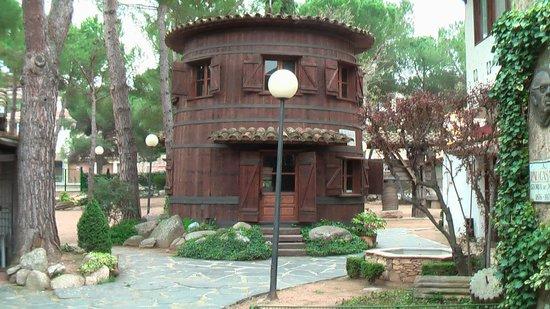 Hostal del Senglar : jardines delanteros
