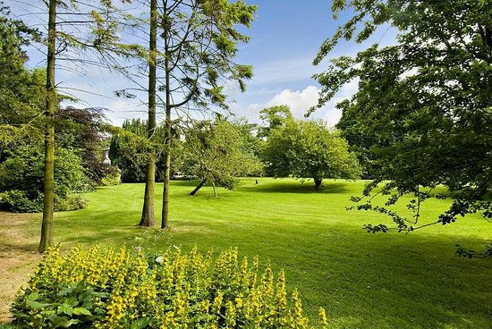 The Old Rectory at Stewton: view across the lawn