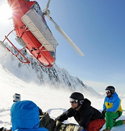 Alaska Powder Descents: Our guides sending the heli off