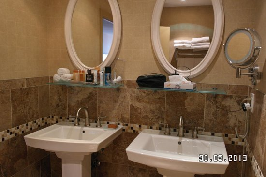 Skyline Hotel: His n hers basins